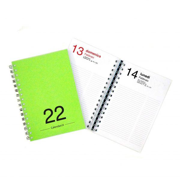 agenda giornaliera 2022 365 giorni verde chiaro