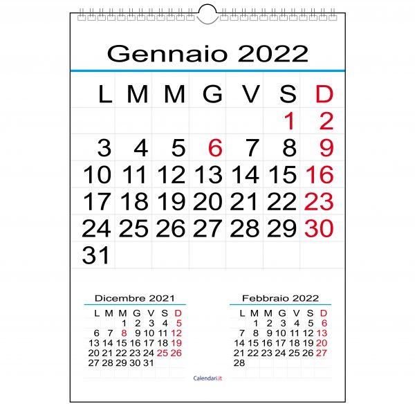 calendario 2022 numeri grandi da muro 12 mesi ufficio