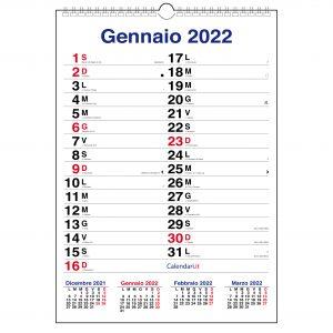 calendario 2022 da muro olandese xl santi lune spirale spazio per scrivere