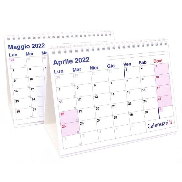 calendario 2022 tavolo scrivania caselle appunti ufficio lavoro light