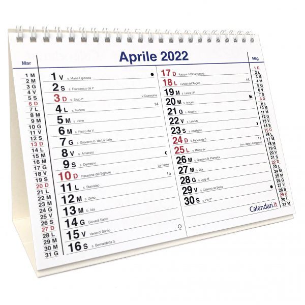 calendario 2022 tavolo santi e lune olandese 12 mesi tavolo