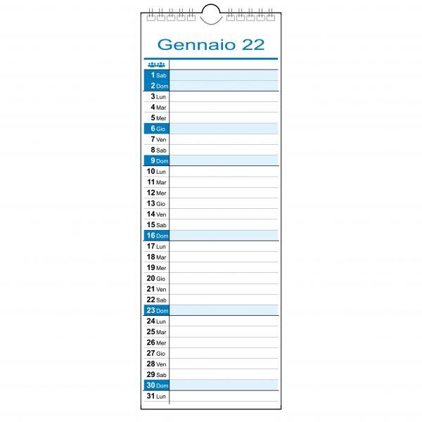 calendario 2022 muro famiglia lavoro slim stretto 1 colonna 1 persona