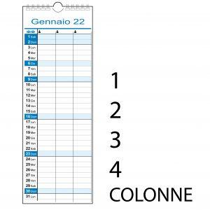 calendario 2022 slim family famiglia 1 2 3 4 colonne persone stretto muro