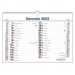 calendario 2022 da muro olandese muro orizzontale santi lune segni zodiacali per appunti
